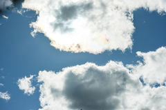 Голубое небо и белое облако Стоковые Фото