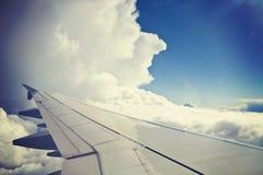 Голубое небо и белые облака, вид с воздуха Стоковая Фотография RF