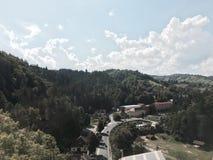 Голубое небо и гора Стоковое Фото
