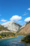 Голубое небо и голубое река Стоковые Изображения RF