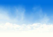 Голубое небо и иллюстрация облаков абстрактная Стоковое фото RF