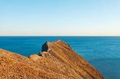 Голубое небо и море Крым Стоковая Фотография RF