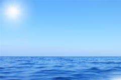 голубое небо моря Стоковое фото RF