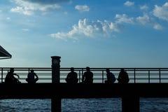 голубое небо моста Стоковое Фото