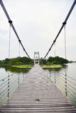 голубое небо моста Стоковая Фотография