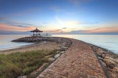 Голубое небо на пляже Karang, Sanur Стоковая Фотография RF