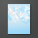 Голубое небо низкое поли Artboard кладет вне вектор предпосылки крышки Стоковая Фотография RF