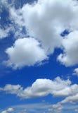 голубое небо облака крупного плана Стоковые Изображения