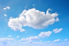 голубое небо облака крупного плана Стоковое Изображение RF