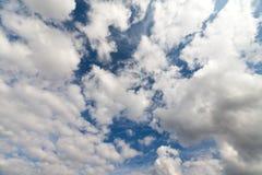 голубое небо облака крупного плана Стоковая Фотография RF