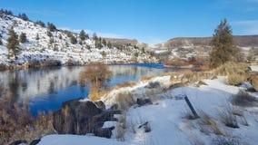 голубое небо реки стоковое фото