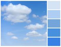 Голубое небо с образцами цвета палитры Стоковые Изображения