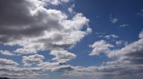 Голубое небо с облаками 14 Стоковая Фотография RF