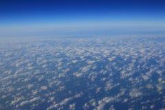Голубое облако было принято на самолет для предпосылки Стоковая Фотография