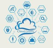 Голубое облако компьютера Стоковое Изображение
