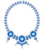 голубое ожерелье Стоковая Фотография RF