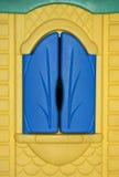 Голубое окно для текстуры предпосылки Стоковое Фото