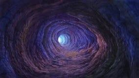 Голубое освещение в пещере Стоковое Изображение RF
