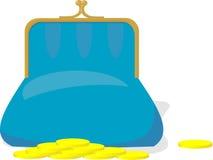 голубое портмоне Стоковое Изображение