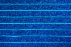 голубое полотенце текстуры Стоковое Изображение
