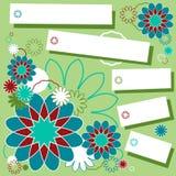 голубое приветствие конструкции карточки флористическое Стоковая Фотография RF