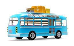 Голубое приключение шины назад Стоковые Фотографии RF