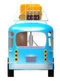 Голубое приключение шины назад Стоковые Изображения