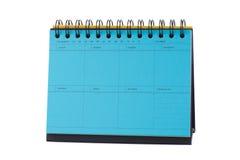 Голубое примечание настольного календаря Стоковая Фотография RF