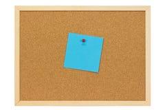 голубое примечание Стоковая Фотография