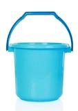 Голубое пластичное ведро стоковое изображение rf