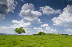голубое драматическое небо стоковое изображение