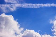 голубое драматическое небо Стоковая Фотография RF