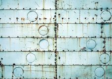 Голубое ржавое металлическое Стоковые Фотографии RF