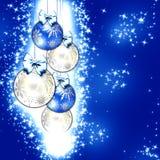 голубое рождество Стоковые Фото