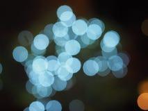 Голубое светлое bokeh Стоковые Изображения