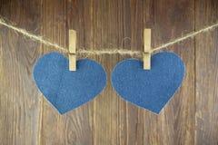 Голубое сердце Стоковые Изображения