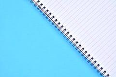 Голубое скрепленное спиралью Стоковая Фотография RF