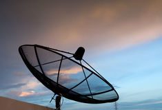 голубое спутниковое небо Стоковые Фото