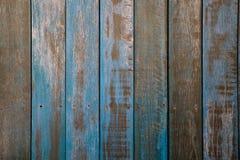 Голубое старое деревянное pttern Стоковые Изображения