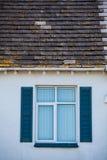 голубое старое окно Стоковое фото RF