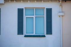 голубое старое окно Стоковые Фото
