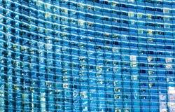 Голубое стекловидное здание Стоковое Изображение