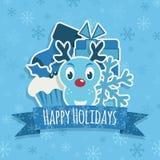 голубое украшение рождества иллюстрация вектора