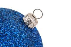 голубое украшение рождества Стоковое фото RF