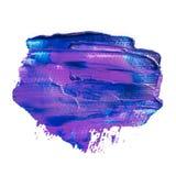 Голубое фиолетовое акриловое знамя brushstrokes Стоковая Фотография