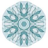 голубое флористическое мандала Стоковые Фото