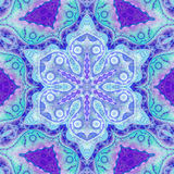 голубое флористическое мандала Стоковые Изображения RF