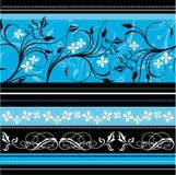 голубое флористическое Стоковая Фотография
