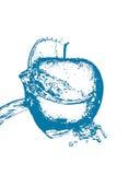 Голубое яблоко Стоковое Изображение