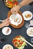 Голубое Ceese и хлеб Стоковое Изображение